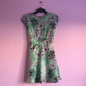 Green Floral Dress.